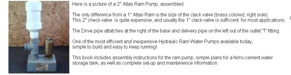 The Atlas Ram Pump-simple to build,  install and maintain.